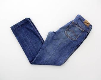 Vintage Jeans // 70's Robot Worn In Jeans // Boyfriend Rocker Festival Faded Bohemian Denim Trousers