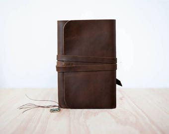 Leather Moleskine cover, Travel leather journal, Refillable leather journal, A5 Notebook cover