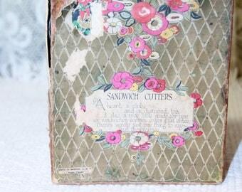 4 Antique Bridge Luncheon Sandwich Cutters, Heart, Diamond, Club, Spade