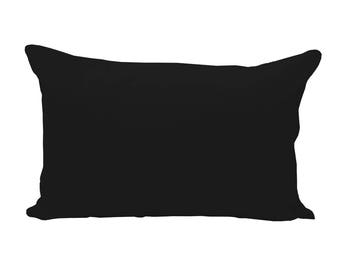 BLANK Lumbar Pillow Cover - Black