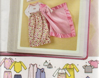 Simplicity Simply Baby Pattern 4153 BABIES LAYETTE & BLANKET  Baby Sizes Preemies - 12 Months