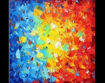 "Painting Susanne Zenichowski  31,5 x 31,5"" abstract"