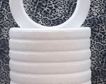 """9 PC Styrofoam EPS Polystyrene WREATHS with Rounded Edges 14"""" X 2"""""""