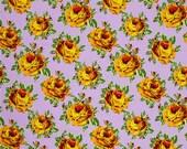 SALE Amy Butler Eternal Sunshine, Rose Lore in Violette Fabric Canada/ Free Spirit Fabric/ half yard
