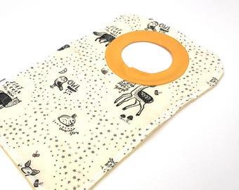 Black And White Bibs - Fox Baby - Pullover Bibs - Baby Bibs Handmade - Gender Neutral Baby Gift - Toddler Bibs - Baby Shower Gift - 219