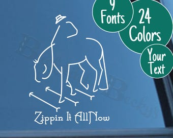 Personalized Trail Horse Decal