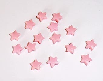 20 x beads 5mm pale pink stars
