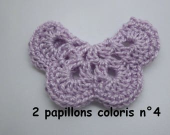 2 butterflies color No. 4 crochet