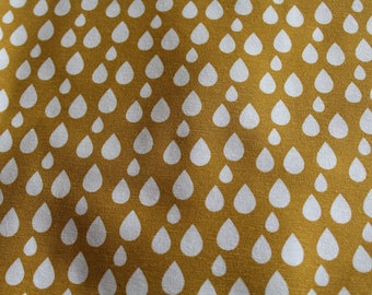 Upholstery fabric drops mustard 70 x 50 cm