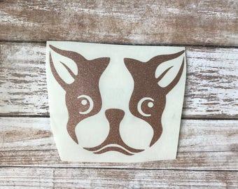 Boston Terrier Dog Animal Vinyl Decal Car Laptop Wine Glass Sticker