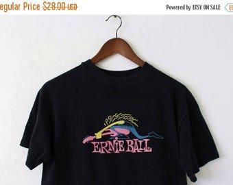 ON SALE MEDIUM Vintage 1980s Ernie Ball Graphic Shirt