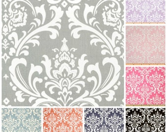 Damask Fabric by the BOLT Grey Black Navy Blue Coral Pink Lavender Premier Prints Ozborne Home Decor Wedding Upholstery Curtain 30 yards