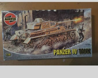Airfix 1:76 Panzer IV Tank Model Kit Complete In Box 02308