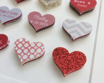 Ruby Wedding Gifts For Parents Uk : 40th Wedding Anniversary giftpaper heart frameRuby wedding gift ...
