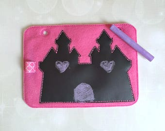 Quiet Book Page - Busy Book - Pre School Learning - Chalkboard Page- Toddler Learning - Kids Activity Pages-Chalkboard Castle- Learning Toys