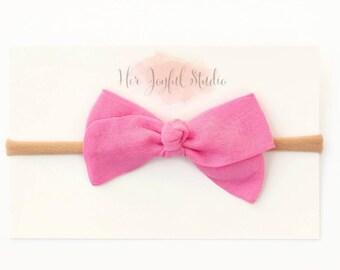 Pink Gauze Small Bridget Bow