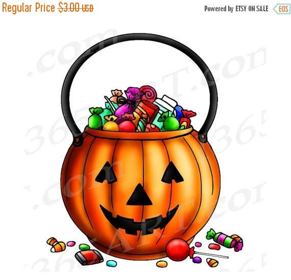 50% OFF Halloween Clipart Trick Or Treat Clipart Trick Or