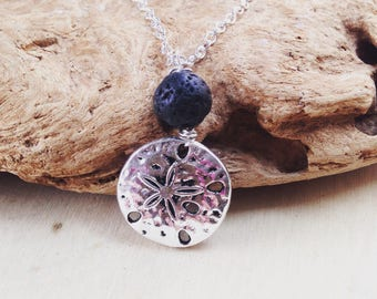 Diffuser Necklace: Aromatherapy Necklace, Lava Rock Necklace, Beach Necklace, Beach Jewelry, Essential Oils, Health & Wellness, Calming