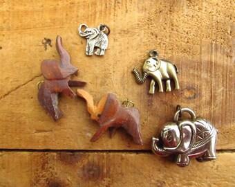 Vintage Elephant Charms  - Elephant Pendants