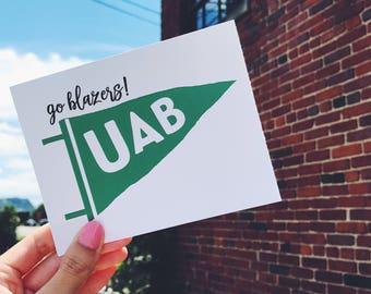 Notecard or Print ~ UAB Pennant