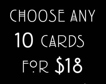 Card Bundle // Pick Any 10 Cards
