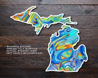 Michigan Mitten Vinyl Decal Sticker A13