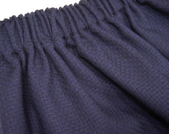wool skirt under knee long with elastic band