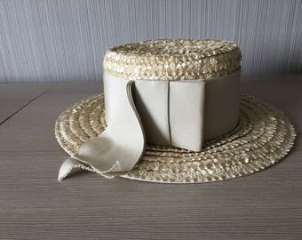 Vintage Straw Hat By Luci Ames Hand Craft