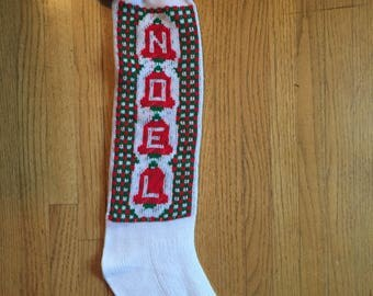 Vintage Knit Christmas Stocking