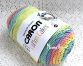Caron Cotton Cakes Yarn Yarnspirations Gerber Daisy 3.5 oz 100 g 211 yds Destash