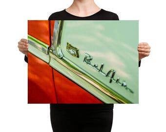 Canvas - Red Silo Original Art - Chevy Bel Air 1