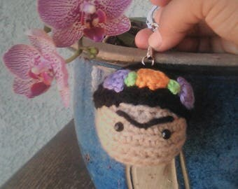 Crochet Frida Kahlo Ornament Keychain