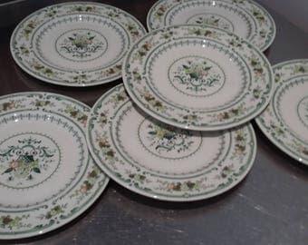 6 Royal Doulton Provencal Salad  / Side Plates 204 mm