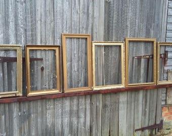 6 Vintage Gilt Frames