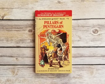 Pillars of Pentegarn Dungeons and Dragons Endless Quest Book 3 Fantasy Book Choose Your Own Adventure Book 1980s Role Playing Gift RPG Book