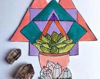 Secert place - original hand painted art sticker