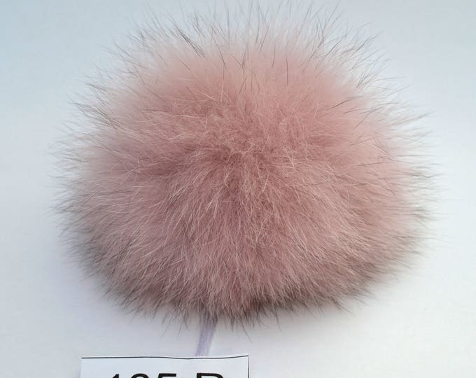 "6"" FOX FUR POMPOM! Fur Pom-Pom, Large Fur Pom Pom, Pink Powder Pom Pom, Real Fur, Winter Hat Pom Pom, Womens Pom Pom Hat, Knitted hat, Child"