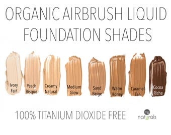 Organic, Vegan Liquid mineral foundation, Titanium Dioxide Free SAMPLE