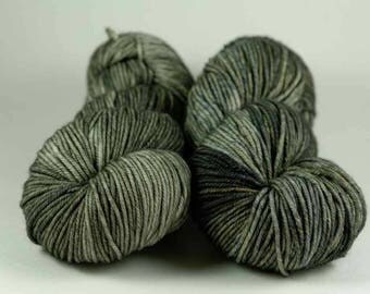 Hand Dyed Yarn - MCN Worsted- 'Thestral' - 200 yards - 80/10/10 Superwash Merino/Cashmere/Nylon