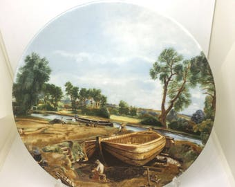 Vintage Poole Pottery Collectors Plate Boat Builder and River Scene