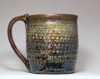 22oz pottery mug, large stoneware mug