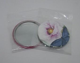 Flower & Butterfly 56 mm Pocket mirror