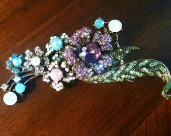 Floral Crystal Hair Jewelry