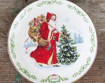 Lenox Santa Claus/Kris Kringle Plate 1992 Santa Plate   Christmas Cookie Plate   Collectible Plate