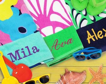 Beach Towels Personalized, Custom Beach Towel, Monogrammed Beach Towel, Embroidered Beach Towel, Beach Towel Monogram