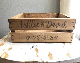 Wedding crate, wedding decor, wooden crate, wedding card holder, rustic wedding decor, wedding gift, wedding crates