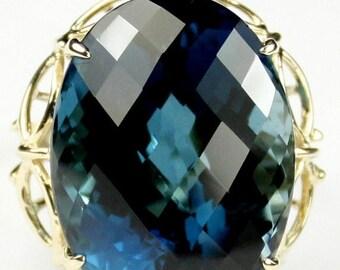 On Sale, 30%Off, London Blue Topaz, 10KY Gold Ring, R068