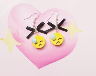 earrings emoji polymer clay