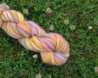 AUTUMN SUN - Handspun Merino Bulky Thick & Thin Yarn - 96 YDS