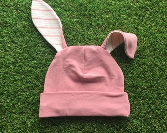 Pink Bunny Hat - Bunny Hat for Baby - Easter Bunny Hat - Toddler Bunny Hat - Pink Easter Hat - Bunny Ears - Baby Bunny Hat - Pink Rabbit Hat